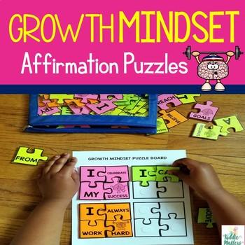 Growth Mindset Positive Affirmation Puzzles