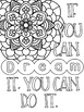 Growth Mindset + Positive Quotes Coloring Pages