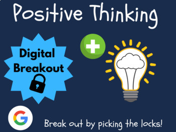 Growth Mindset: Positive Thinking - Digital Breakout! (Escape Room, 2020)