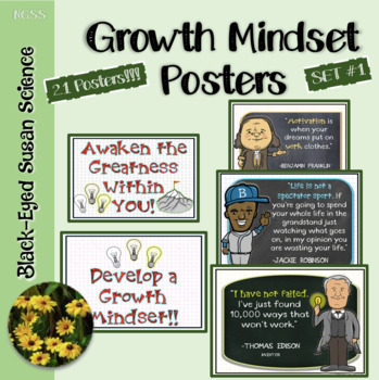 Growth Mindset (Positive Thinking) Posters
