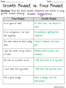 Growth Mindset: Positive Thinking Practice