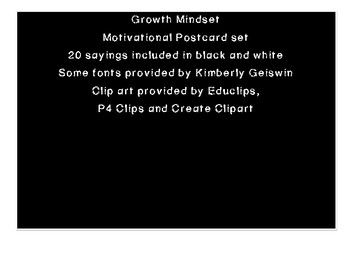 Growth Mindset Postcards