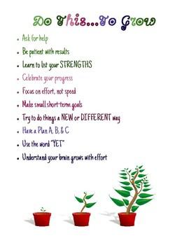 Growth Mindset Poster
