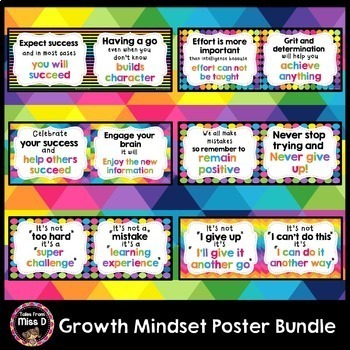 Growth Mindset Posters Bundle