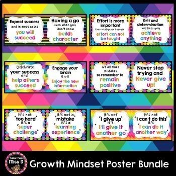 Growth Mindset Posters Bundle