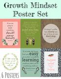 Growth Mindset Poster Bundle - 6 Posters