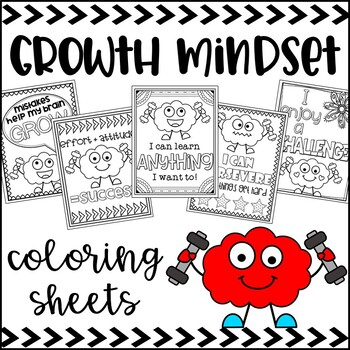 Growth Mindset Poster Coloring Sheets