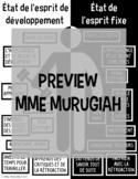 Growth Mindset Poster (FR)