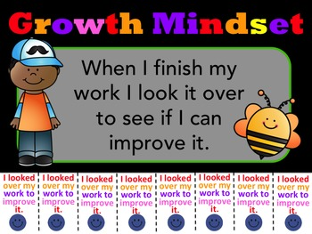Growth Mindset Poster: Growth Mindset Tokens - Catch Students Being Good