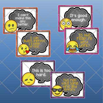 Growth Mindset Emoji Poster Set