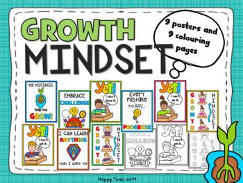 Growth Mindset Poster Set