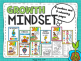 Growth Mindset Poster Set (with coloring pages)