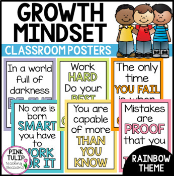 Growth Mindset Poster Set - Classroom Decoration
