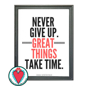 Growth Mindset Poster - Spanish / English - Never Give Up.