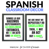Growth Mindset Poster - Spanish / English - Excellence is a habit