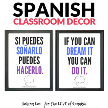 Growth Mindset Poster - Spanish / English - Dream it