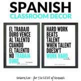 Growth Mindset Poster - Spanish / English HARD WORK