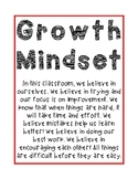 Growth Mindset Poster and Assessment