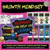 Growth Mindset Bookmarks and Posters