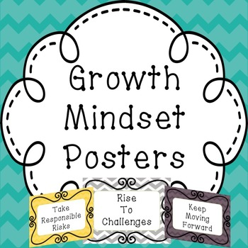 Growth Mindset Poster and/or Bulletin Board signs