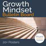 Growth Mindset Bulletin Board (Classroom Posters, School Counselor, Health)