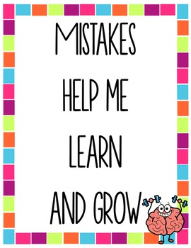 Growth Mindset Posters and Student Journal