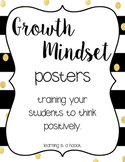 Growth Mindset Posters (Black and Gold)