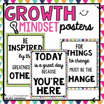 Change and Growth Mindset Posters