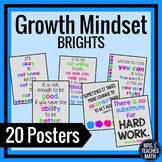 GROWTH MINDSET POSTERS - Brights Theme