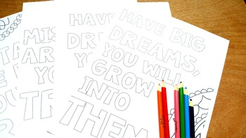 Growth Mindset Posters (Bonus: coloring pages)