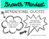 Growth Mindset Posters - BW & Color BUNDLE