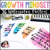 Growth Mindset Posters {36 8.5x11 Watercolor Signs: Classr