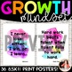 Growth Mindset Posters {36 Watercolor Signs: Print Font Classroom Decor}