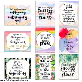 Growth Mindset Posters- Set 2