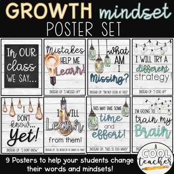 Growth Mindset Posters (Farmhouse)