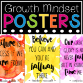 Growth Mindset Posters - Watercolor Quote Posters