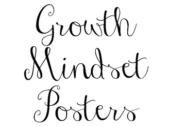 Simple Black and White Growth Mindset Posters