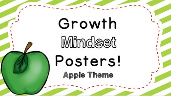 Growth Mindset Posters:  Apple Theme!