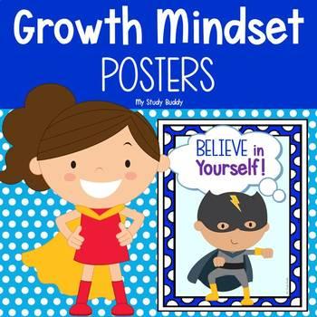 Growth Mindset Posters - Superhero Themed (Back to School / Classroom Decor)
