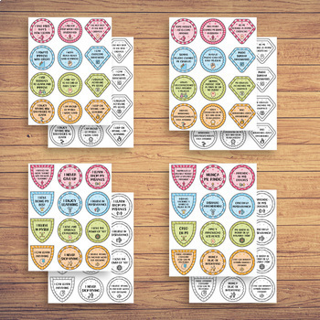 Growth Mindset Posters, Badges and Cards BUNDLE