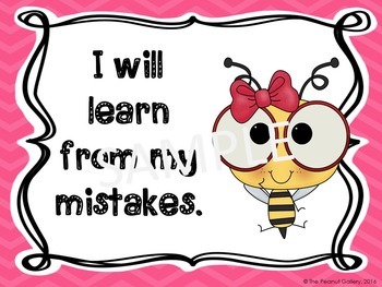 Growth Mindset Posters (Bee Theme)