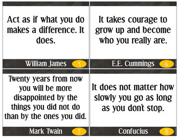 30 Growth Mindset: Posters - Bell Ringers - Task Cards: vol.1 Sleek Black