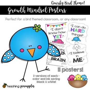 Growth Mindset Posters - Quirky Birds Themed!