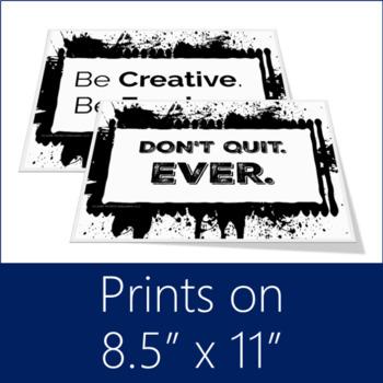 Growth Mindset Posters (Black & White Splash!)