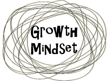 Growth Mindset Posters - Black and White