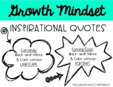Growth Mindset Posters - Black and White Version