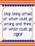 Growth Mindset Posters (Blue and Orange)