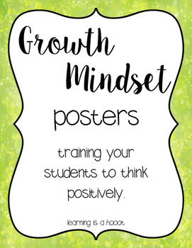 Growth Mindset Posters (Bokeh Edition)