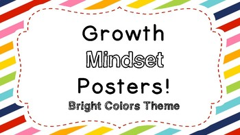 Growth Mindset Posters: Bright Colors Theme!