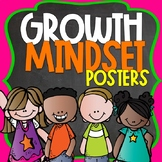 Growth Mindset Posters Bright Colors and Chalkboard Themed